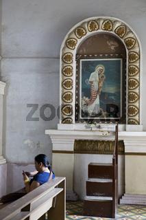 Believers in a Church in Tagbilaran on Bohol Island