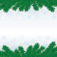 Christmas Fir Twigs White Snow Centre