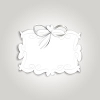 Romantic gift card with vintage label for text