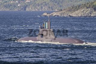 German Submarine U33 Entering Kristiansand Norway