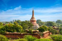 Travel landscapes and destinations. Amazing architecture of old Buddhist Temples at Bagan Kingdom, Myanmar (Burma)