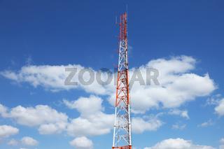 Antenna metal red-white mast
