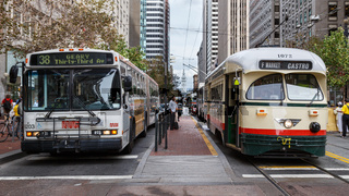 Bus and Tram Wait in SF