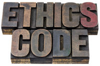 ethics code in wood type
