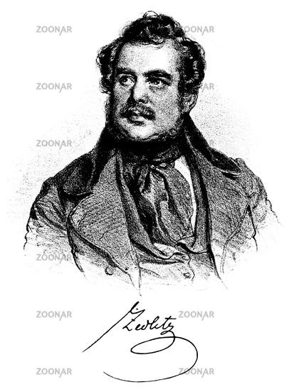 Freiherr von Zedlitz und Nimmersatt, 1790 - 1862, an Austrian officer