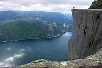 Preikestolen, Pulpit Rock, at Lysefjord,Norway