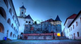View of old Palanok Castle or Mukachevo Castle