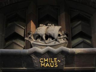 Fassadendetail am Hamburger Chilehaus