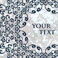 Ornamental mandala vector round frame for your text.