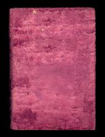 Old pink velvet cover isolated on black background