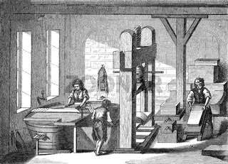 Papermaking, 19th century