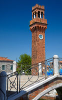 Clock tower in Murano, Italy