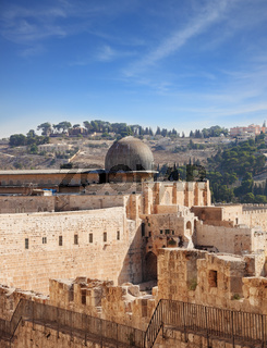 The ancient walls of Jerusalem