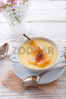 williams pears with semolina