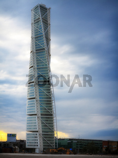Malmo, Sweden city with famous Turning Torso.