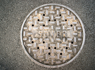Vanted Manhole Sewer Main Cover Asphalt Side Street Water Drain