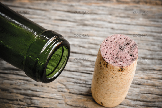 Close Up of Wine Bottle and Cork