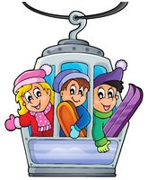 Cable car theme image 1 - picture illustration.