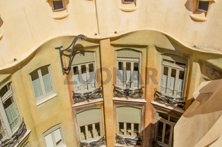 Casa Mila internal view from roof on windows