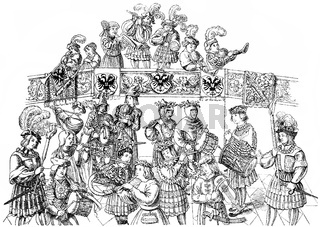 music band from the 16th Century