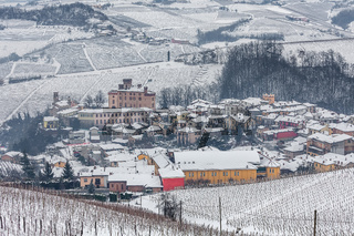 Town of Barolo in winter.