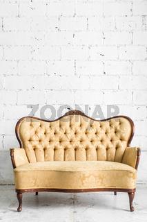 Brown Retro Sofa