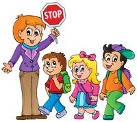 School kids theme image 1 - picture illustration.
