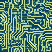 High tech schematic seamless texture - electronic circuit board