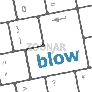 blow button on computer pc keyboard key