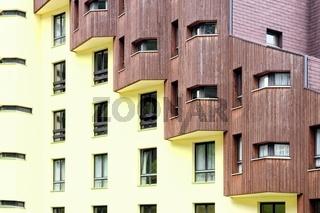 Hauswand Holz Beton