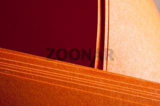 Grungy orange paper folds