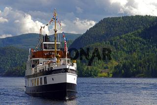 Die Victoria auf dem Telemarkkanal