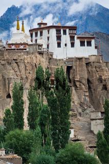 Buddhist heritage, Lamayuru monastery temple at Hymalaya highland. India, Ladakh, Lamayuru Gompa
