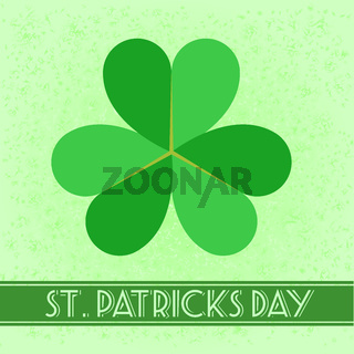St. Patrick retro background