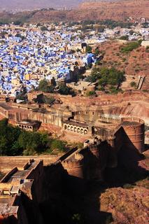Jodhpur city seen from Mehrangarh Fort, India