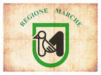 Grunge flag of Marche (Italy)