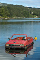 Floating Subara car, Norway