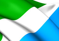Flag of Sierra Leone. Close Up.