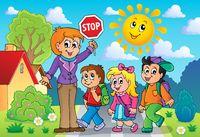 School kids theme image 2 - picture illustration.