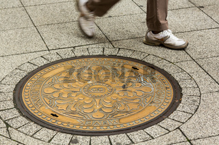 Manhole cover in Budapest