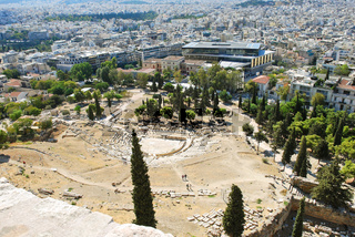 city and Theatre of Dionysus, Athens