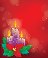 Christmas candle theme image 1 - picture illustration.