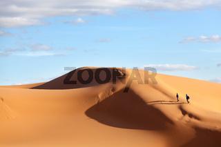 Sand dune in the desert of Morocco