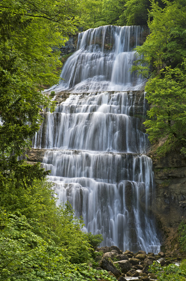 L'Eventail Waterfall, Herisson Waterfalls, France