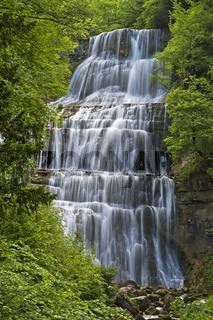 L'Eventail Wasserfall, Menetrux-en-Joux,Frankreich