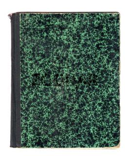 Alter grün gemusterter Bucheinband