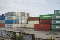 In the container harbour of Dortmund, Germany