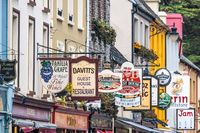 Colorful pub signs in Kenmare