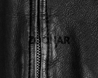 Leather jacket detail in black and white