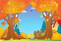 Autumn tree theme composition 1 - picture illustration.